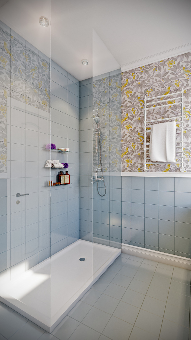CO:interior Bagno in stile classico Grigio