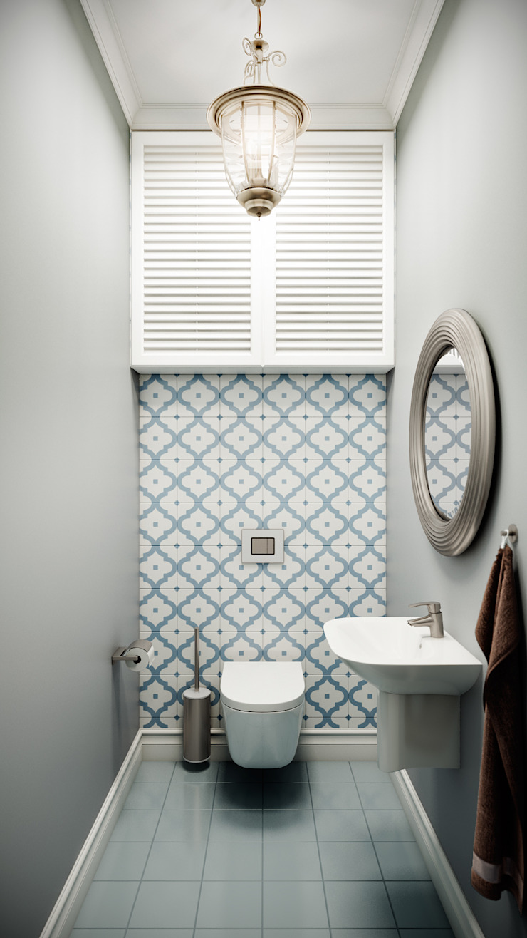 CO:interior Classic style bathroom Blue