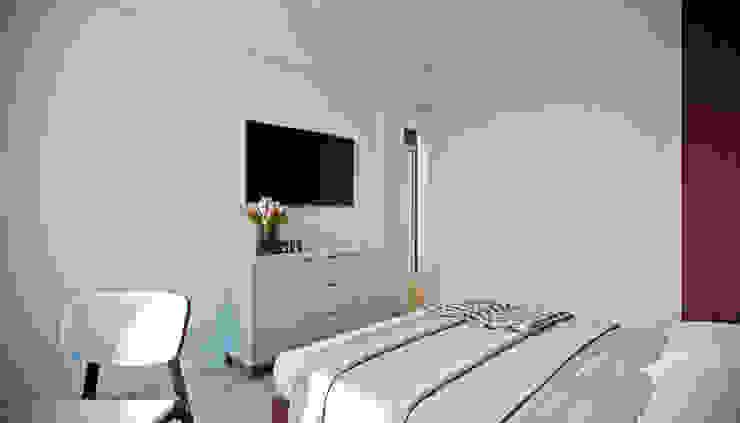 CO:interior Camera da letto eclettica Grigio