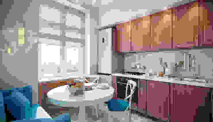 CO:interior Cucina eclettica Effetto legno
