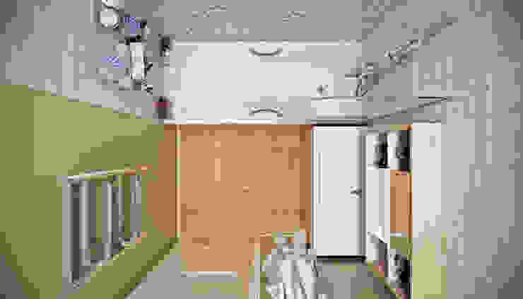 CO:interior Bagno eclettico Effetto legno