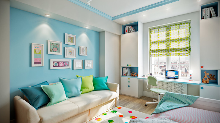 CO:interior Classic style nursery/kids room Blue