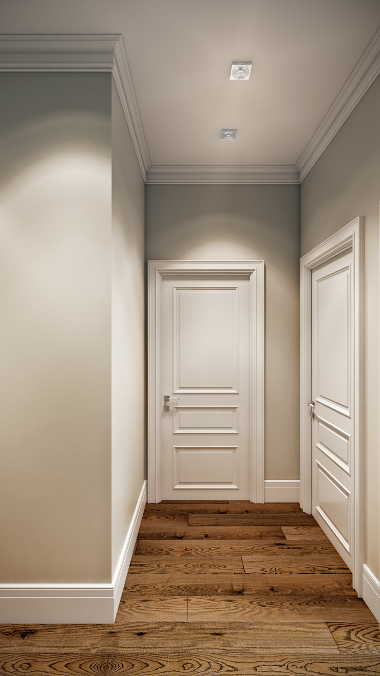 CO:interior Classic style corridor, hallway and stairs Beige
