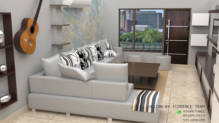 Living  area design: classic  by Florence Management Services  ,Classic Leather Grey