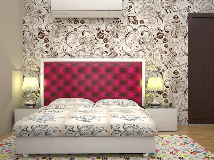 Bed Design: modern  by Florence Management Services  ,Modern Leather Grey