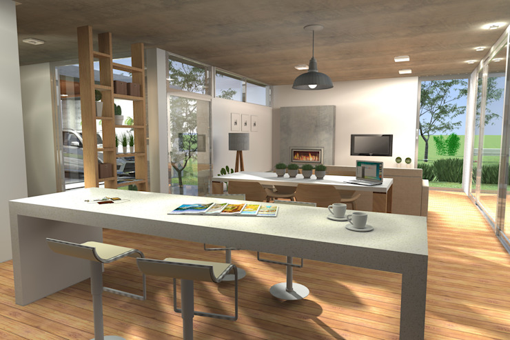 Кухня в стиле модерн от Arquitectura Bur Zurita Модерн