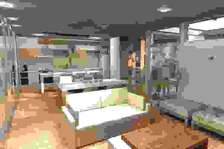 Modern dining room by Arquitectura Bur Zurita Modern