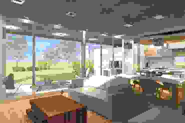Modern living room by Arquitectura Bur Zurita Modern