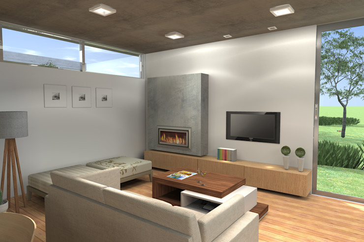 Гостиная в стиле модерн от Arquitectura Bur Zurita Модерн