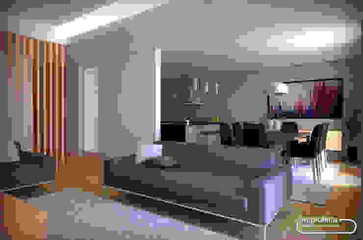Minimalistische woonkamers van Emprofeira - empresa de projectos da Feira, Lda. Minimalistisch Hout Hout