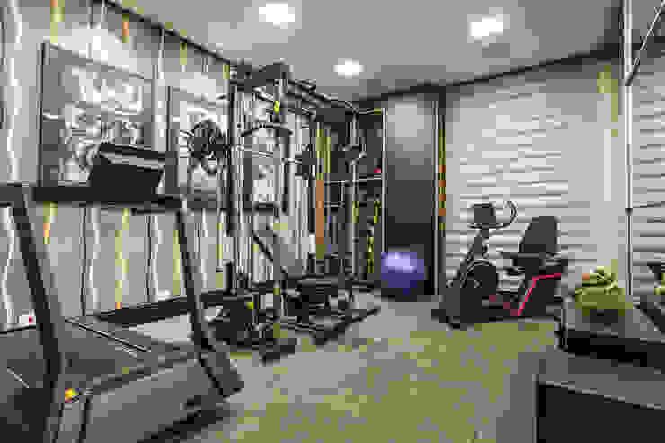TRÍADE ARQUITETURA Modern Gym Rubber Grey