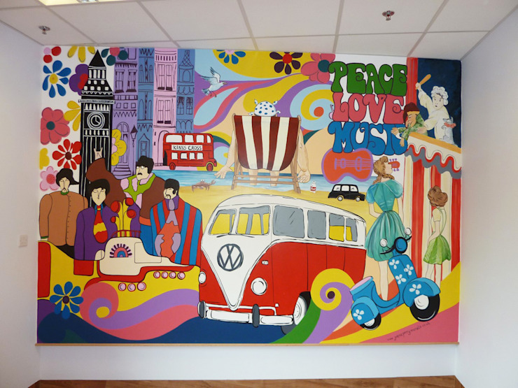 Vintage Memory Mural Eclectic style hospitals by Joanna Perry Murals Eclectic