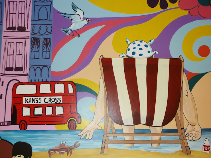 Vintage Mural Eclectic style hospitals by Joanna Perry Murals Eclectic