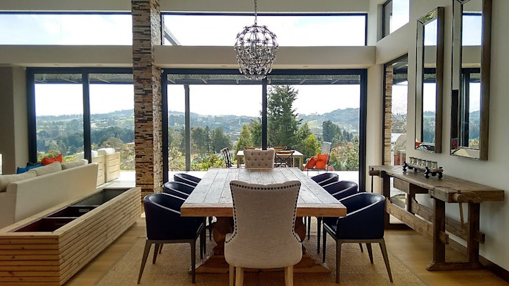 Eclectic style dining room by Espacios Positivos Eclectic