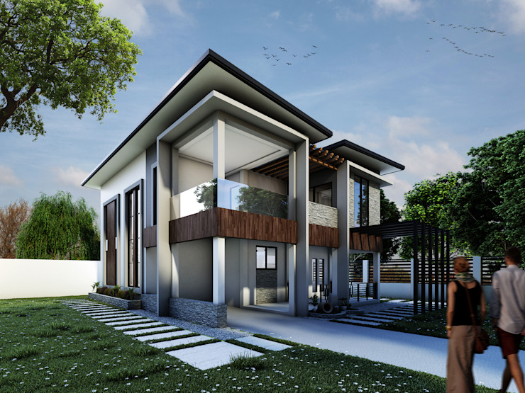 Proposed Two Storey Residential (Modern Design) by DJD Visualization and Rendering Services Modern