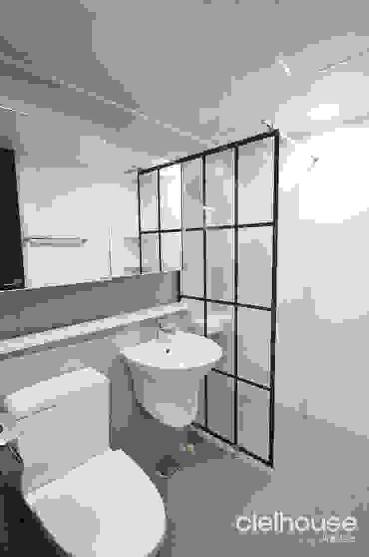 심플한 모노톤으로 바뀐 34평 아파트 인테리어 모던스타일 욕실 by 씨엘하우스 모던