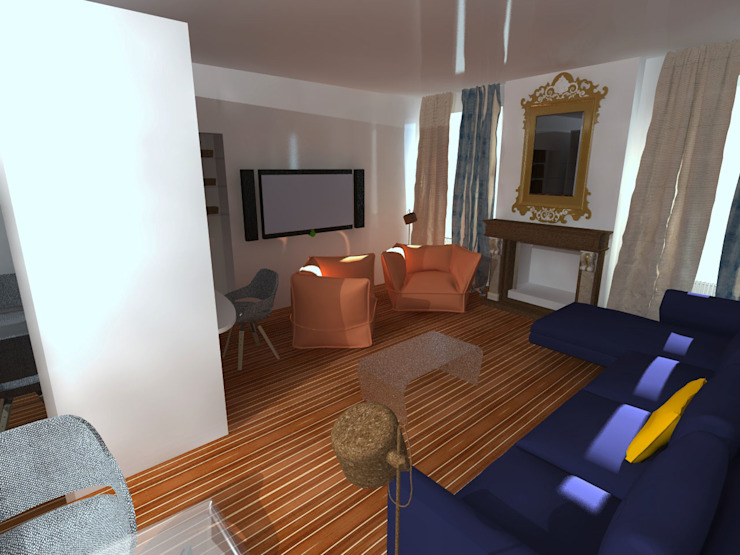 Modern Living Room by francesco crotti Modern Wood Wood effect