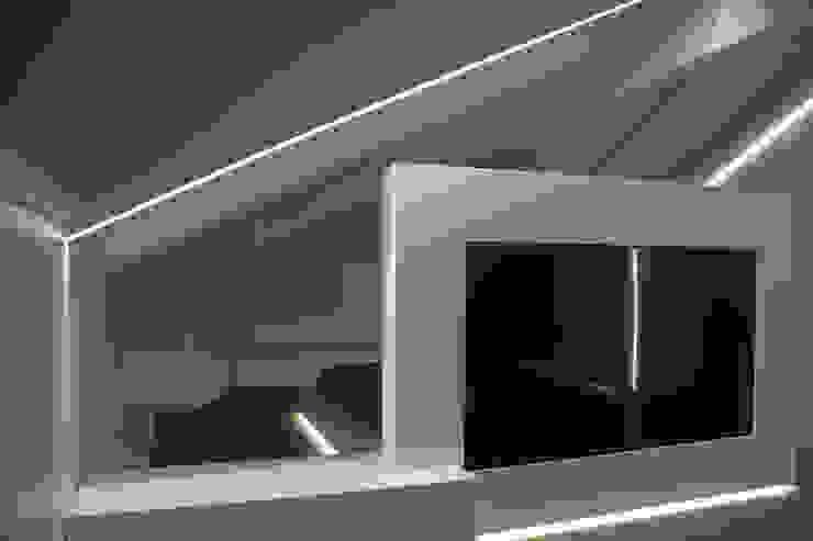 salotto-televisione Giemmecontract srl. Camera da letto minimalista