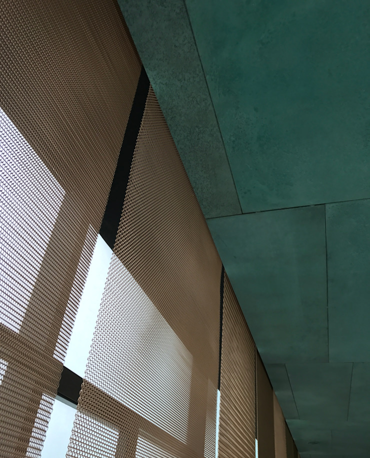 Mesh screen by Nomad Office Architects 覓 見 建 築 設 計 工 作 室 Modern Copper/Bronze/Brass