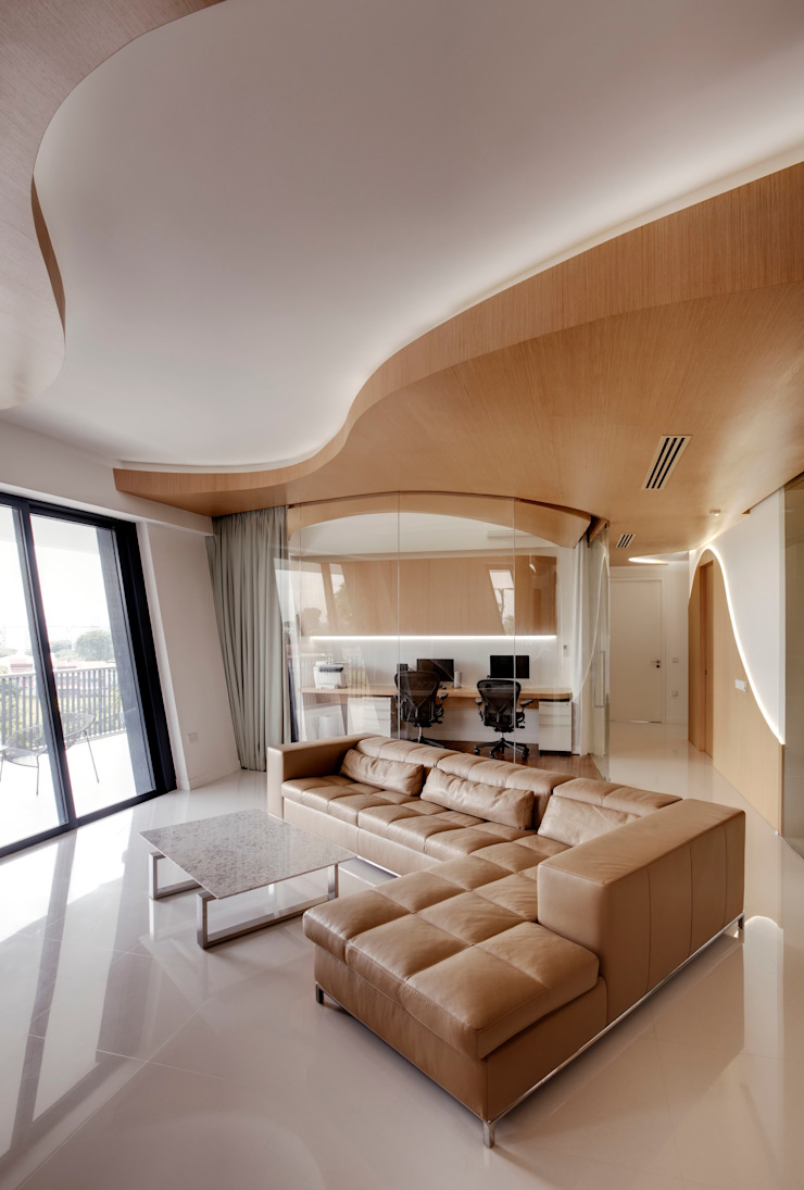 Landscape Apartment at D'leedon Modern study/office by Lim Ai Tiong (LATO) Architects Modern
