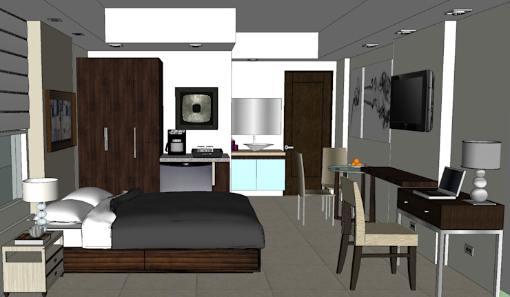 2011 PROJECTS Modern style bedroom by MKC DESIGN Modern