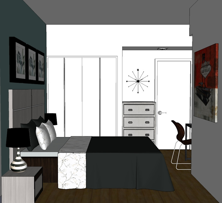 2012 PROJECTS Modern style bedroom by MKC DESIGN Modern