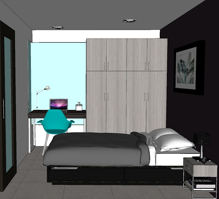 2013 PROJECTS Modern style bedroom by MKC DESIGN Modern