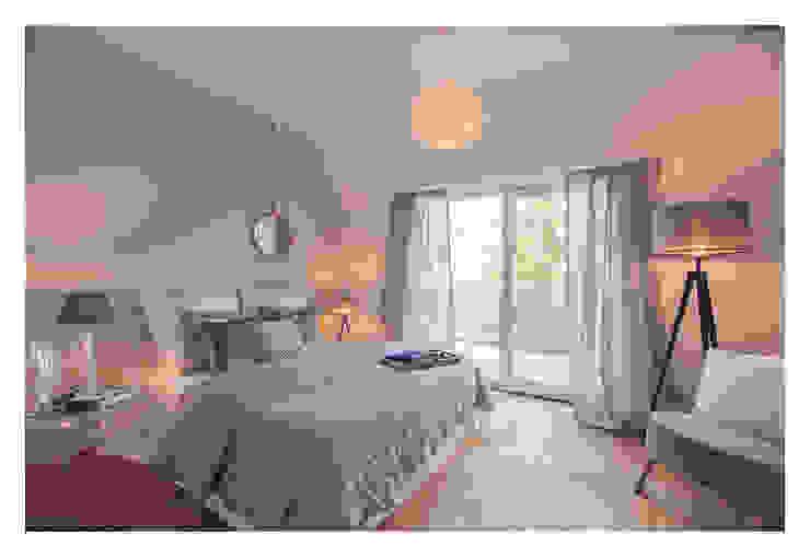 Home Staging einer Wohnung in 1140 Wien die zu VERKAUFEN ist !!! Moderne Schlafzimmer von VIENNA HOME STAGING Modern