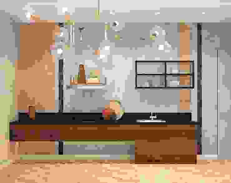 ДизайнМастер 現代浴室設計點子、靈感&圖片 Brown