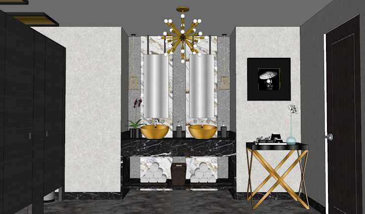 2015 PROJECTS MKC DESIGN Modern bathroom