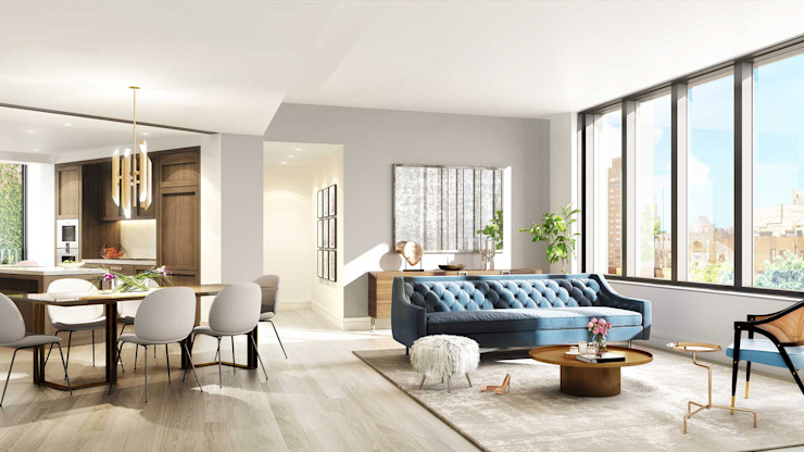 West Village | Living room GD Arredamenti Mediterranean style living room