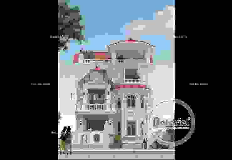 Phối cảnh mẫu biệt thự Cổ điển Pháp 3.5 tầng BT16019. bởi Công Ty CP Kiến Trúc và Xây Dựng Betaviet