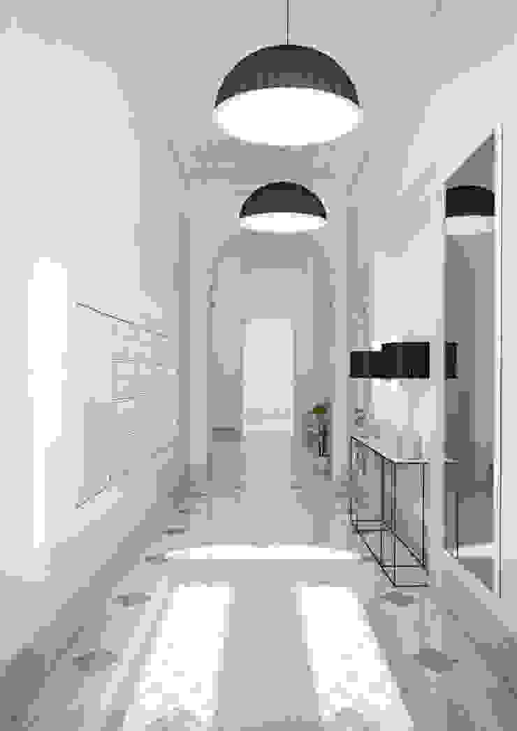 Boavista 62 – Estoril Real Estate Corredores, halls e escadas modernos por Onstudio Lda Moderno