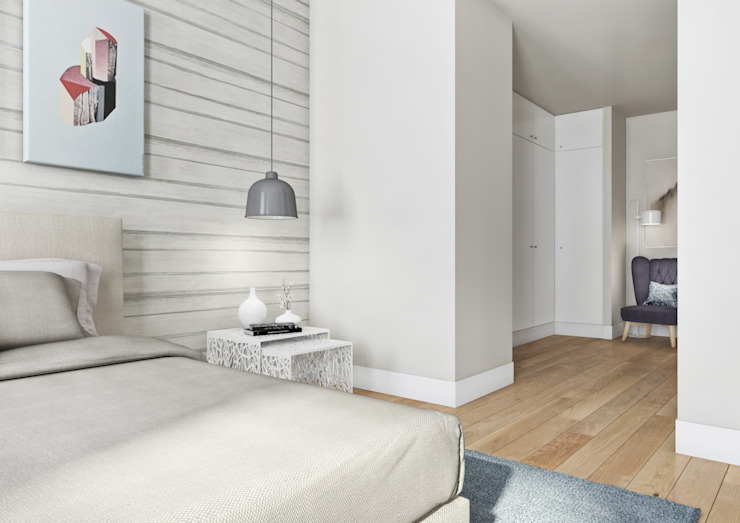 モダンスタイルの寝室 の Onstudio Lda モダン