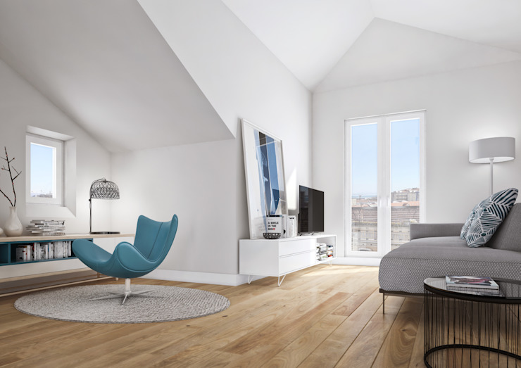 Boavista 62 – Estoril Real Estate Salas de estar modernas por Onstudio Lda Moderno