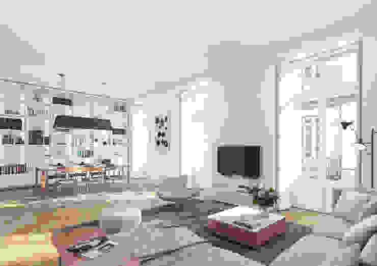 Flores 45 - Odeon Properties Onstudio Lda Salas de estar modernas
