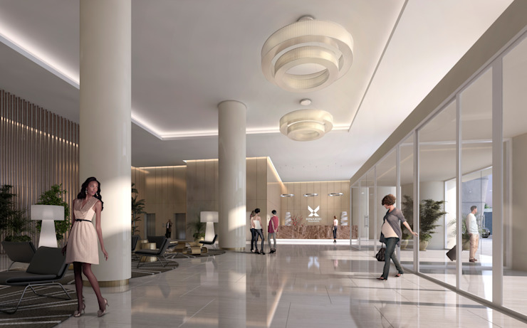 Onstudio Lda Pasillos, vestíbulos y escaleras de estilo moderno