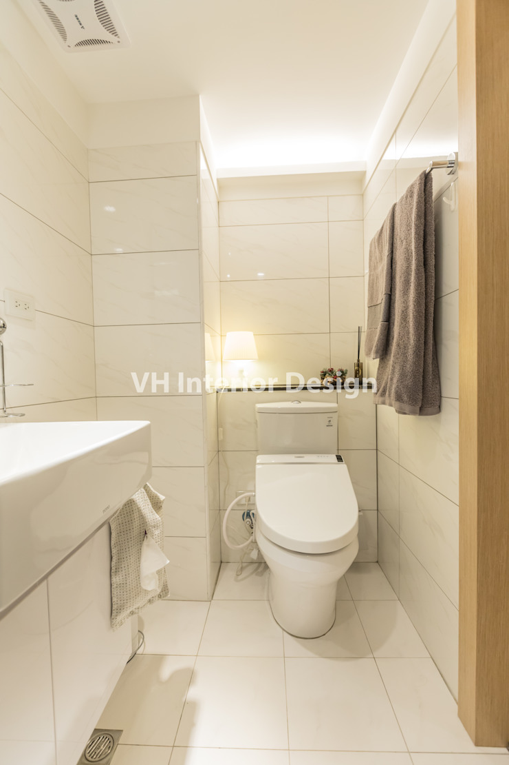 士林黃公館 現代浴室設計點子、靈感&圖片 根據 VH INTERIOR DESIGN 現代風