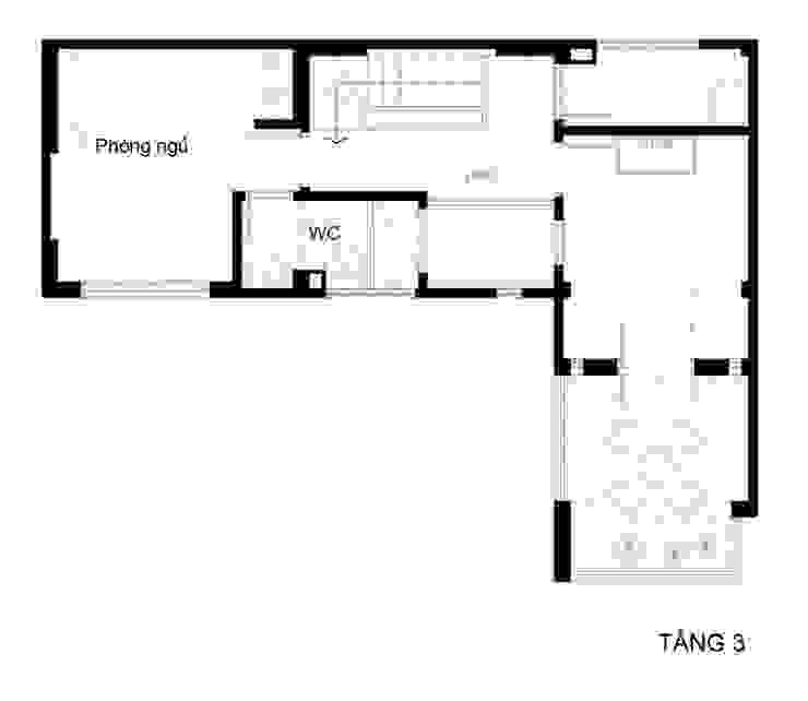Bản vẽ thiết kế mặt bằng nhà ống 3 tầng bởi Công ty TNHH Xây Dựng TM – DV Song Phát Hiện đại