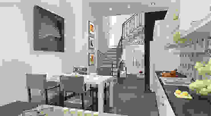 Thiết kế nội thất phòng bếp Phòng ăn phong cách hiện đại bởi Công ty TNHH Xây Dựng TM – DV Song Phát Hiện đại