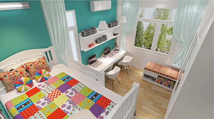Schlafzimmer von Công ty TNHH Xây Dựng TM – DV Song Phát,