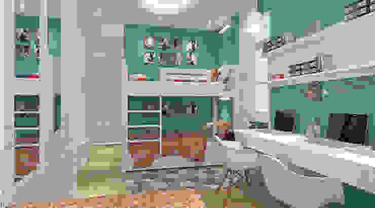 Phòng ngủ dành cho con Phòng ngủ phong cách hiện đại bởi Công ty TNHH Xây Dựng TM – DV Song Phát Hiện đại