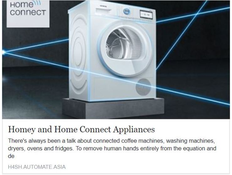 Homey and Home Connect for Bosch Appliances by Automate Asia Pte Ltd Modern