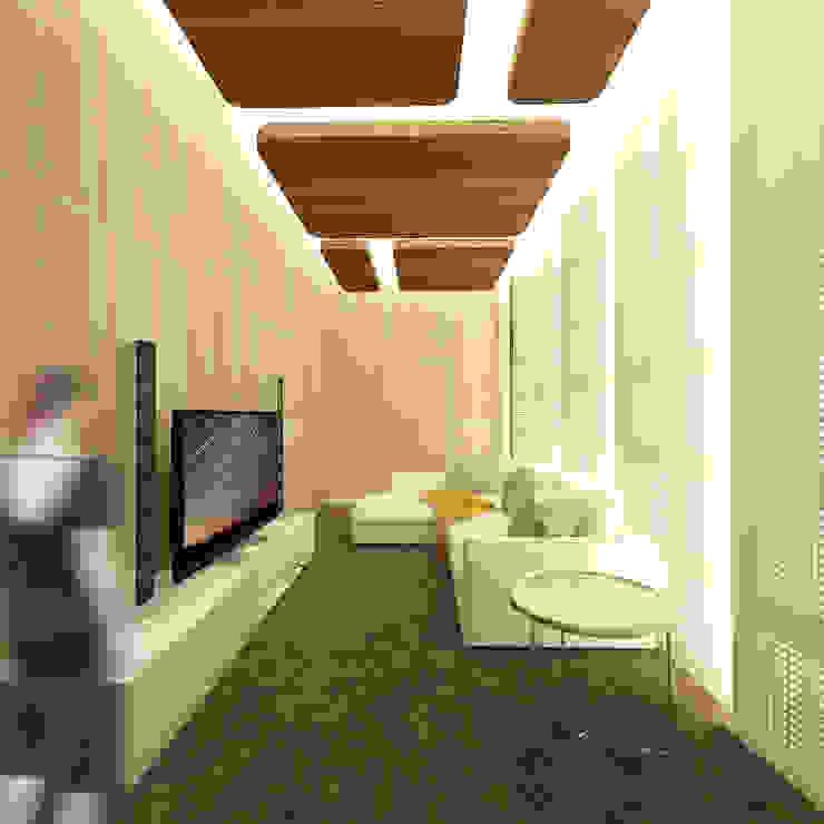 Karaoke Room Ruang Media Modern Oleh SEKALA Studio Modern Kayu Lapis