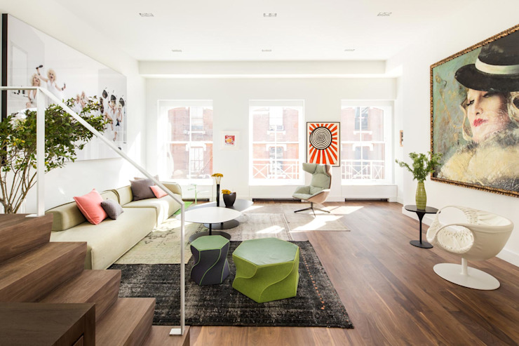 Soho Penthouse | Living Room GD Arredamenti Modern living room Multicolored