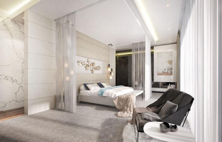 Main Bedroom Modern style bedroom by Dessiner Interior Architectural Modern