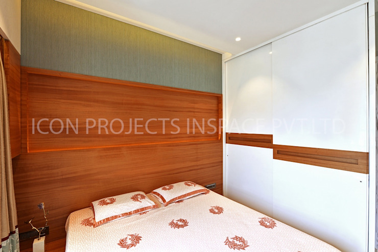 2Bhk Residence -1 Modern Bedroom by icon projects inspace pvt ltd Modern