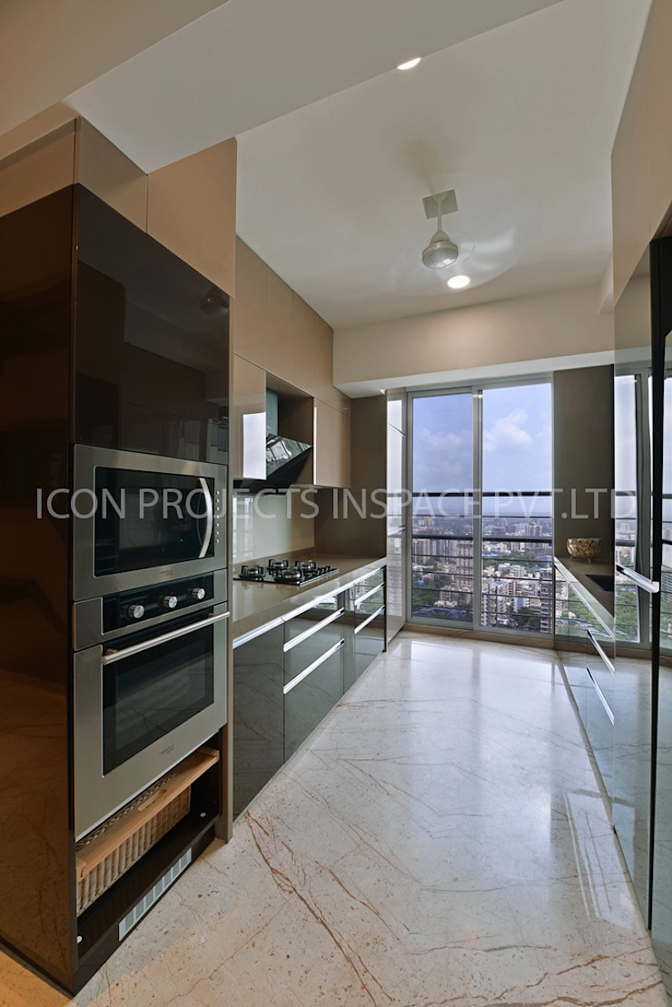 2Bhk Residence -1 Modern Kitchen by icon projects inspace pvt ltd Modern