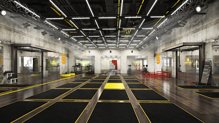 Collection of Work 03 Modern gym by Liquidmesh Design Modern