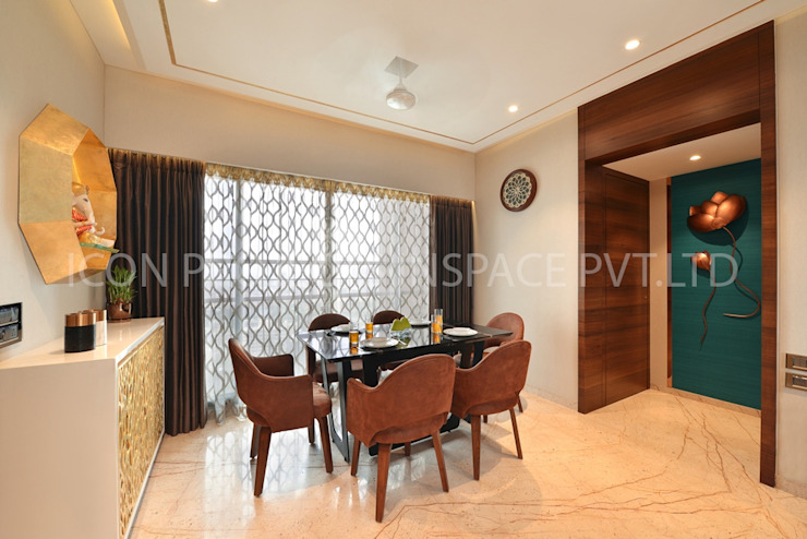 2Bhk Residence -1 Modern Dining Room by icon projects inspace pvt ltd Modern